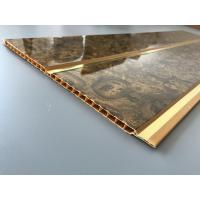 7mm Thickness Ceiling PVC Panels With Two Golden Lines Non Flammable Features  Manufactures