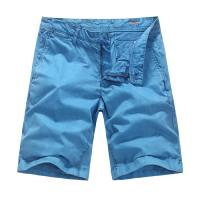 Blue Mens Denim Shorts OEM Garment Dyeing Service European style Manufactures