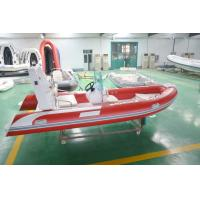 4.8m Semi - Rigid FRP Foldable Inflatable Boat Inflatable Fishing Boats With Certificate Manufactures