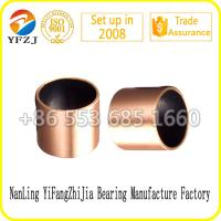Lead free du bushing Bi - metal casting bronze bushing with PTFE Manufactures