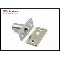 Stainless Steel Glass Door Stopper , Brushed Satin Nickel Hydraulic Magnetic Door Catch Manufactures