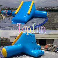 Inflatable Water Slide OEM With Artwork Logo / Amusement Water Park Games For Kids Manufactures