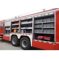 6x4 Drive Type Heavy Rescue Fire Truck With 100W Alarm Control System Manufactures