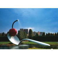 Large Painted Spoon Sculpture Stainless Steel Water Feature Unique Design Manufactures