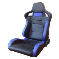 PVC Adjustable Blue And Black Racing Seats / Sports Car Seat with single slider Manufactures