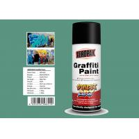 Apple Green Color Graffiti Spray Paint 400ml Filled With MSDS Certificate Manufactures