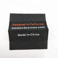 Wholesale Customized Garment Logos Loop Folded Polyester Sewing on Damask Woven Labels for Clothing Manufactures