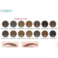 China Pure Organic Permanent Makeup Ink Pigment For Eyebrows 14 Colors Long Lasting on sale
