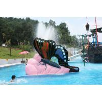 Indoor Water Playground Equipment Kids Water Pool Slides Butterfly Fiberglass Manufactures