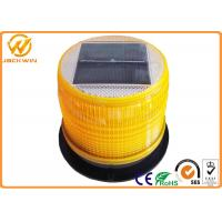 High Brightness LED Solar Beacon Flashing Safety Warning Light With Magnetic Base Manufactures
