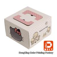 Square 10 Cardboard Folding Cake Boxes Custom Printed For Packaging Cake Manufactures