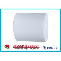 White 30~110GSM Spunlace Nonwoven For Household Cleaning Wipe Wet Tissues Manufactures