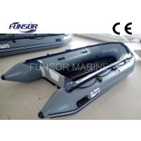 PVC Coated Fabric Aluminum Floor Foldable Inflatable Boat / Dinghy Manufactures