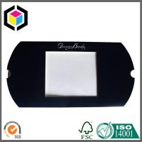 Silver Hot Foil Logo Black Color Printing Pillow Paper Box with Open Window Manufactures
