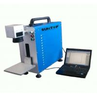 Portable Fiber Laser Marking Machine for Auto Parts / Hardware Marking Power 30W Manufactures