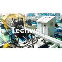 Metal Sheet Hat Channel Roll Forming Machine / Furring Channel Profile With 0-15m/min Forming Speed Manufactures