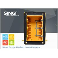 Three gang plastic outlet boxes with covers , electrical outlet box Manufactures