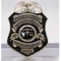 Shinny Silver Plating Zinc Alloy 4inch Metal army and police badge Manufactures