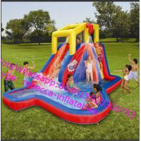 CE Kids Indoor / Outdoor Inflatable Water Slides Toys With PVC Tarpaul  Inflatable Backyard Waterslide Manufactures