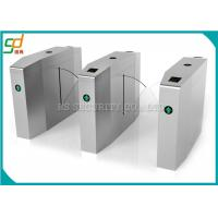 Electronic Turnstile Security Gates RS485 Interface Bidirectional Flap Barrier Manufactures