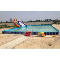 Outdoor Above Ground Pool Metal Frame Swimming Pool for water park Manufactures