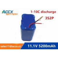 11.1V 12V 5200mAh li-ion battery 4400mAh 5000mAh 3S2P 18650 rechargeable battery for led light Manufactures