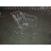 European Type Supermarket Shopping Carts with PU casters , shopping trolley cart Manufactures