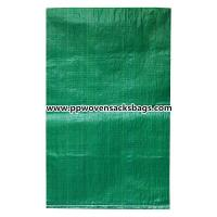 Biodegradable Green PP Woven Bags for Packing Limestone / Industrial PP Sacks Manufactures