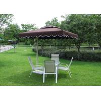 2.5 M Square Offset Patio Umbrella Stainless Steel Frame For Restaurants Manufactures