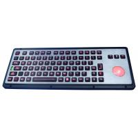 Robust IP65 Backlit Industrial Keyboard With Trackball Manufactures