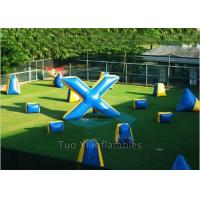 Durable PVC Inflatable Paintball Bunkers/ Airsoft Bunkers Combination Manufactures