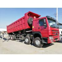SINOTRUK HOWO 8 X 4 12 Wheel Heavy Duty Dump Truck 371HP 55 Tons Loading Manufactures