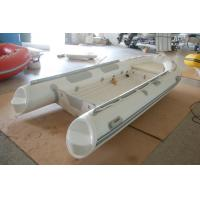 Buy cheap 390cm Semi - Rigid Inflatable RIB Boats Fiberglass Hull Light Grey Color from wholesalers