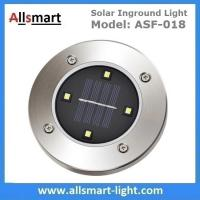 4LED Round Solar Inground Light Solar Underground Accent Lamp for Plaza Garden Landscaping Stainless steel Lampshade Manufactures