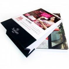 Quality C2S art paper Cardboard Desktop Customized Calendar Printing Service for Promotion for sale