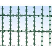 Cheap Galvanized Welded bto22 100mm x 200mm Razor Wire Mesh Protective Fence Manufactures