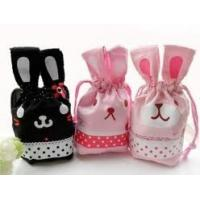 Cute Animal Cloth Drawstring Bag Ladies Cotton Drawstring Gift Bags / Pouches Manufactures