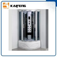 Quality Luxury Room Steam Shower Bath Cabin Shower Spa Units With Spa Tub Sector Shape for sale