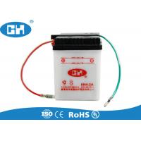 White Small 6 Volt Motorcycle Battery , Custom 6v Sealed Lead Acid Battery Manufactures