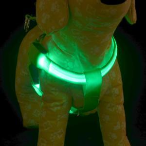 Adjustable Comfort nylon reversible Pet Night Safety Vest LED Dog Harness Manufactures