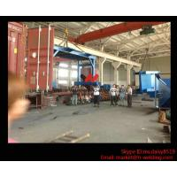 Eco-friendly High Speed H Beam Shot Blasting Machine With Rubber Curtain / CE Approved Manufactures