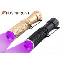 Black Light 365NM LED Flashlight with Belt Clip , 395NM Uv Light LED Detector Lamp Manufactures