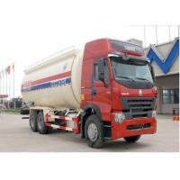 HOWO Dongfeng 6X4 Cement Carrier Truck 3 Axles 18 - 36 cbm For Coal Powder / Cement Manufactures