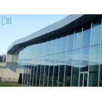 Aluminium Thermal Break Curtain Wall , Customized Invisible Frame Curtain Wall Manufactures