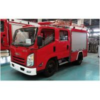 Large Size Water Tanker Fire Truck 4x2 Drive With 100W Alarm Control System Manufactures