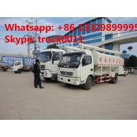 China best price 6tons hydraulic discharging poultry feed truck for sale, 5-7tons farm-oriented and livestock feed truck Manufactures