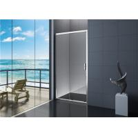 Villa 6mm Tempered Glass Sliding Shower Door with Handle EN12150 Manufactures