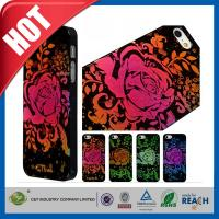 Lady Red Glitter Flowers Plastic Luxury Apple Cell Phone Cases Back Covers For Iphone 5 / 5S Manufactures