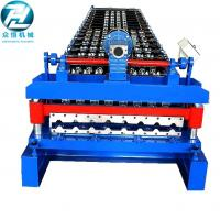 Quality Colored Steel IBR Roofing Sheet Roll Forming Machine With Delta PLC Control 30m for sale