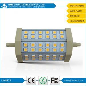 R7S LED light 8W 5050 SMD 540-630LM 2700-3200K Warm White Light LED R7S (AC85-265V) Manufactures